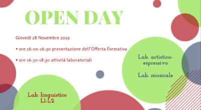 Open Day a.s. 2019-2020